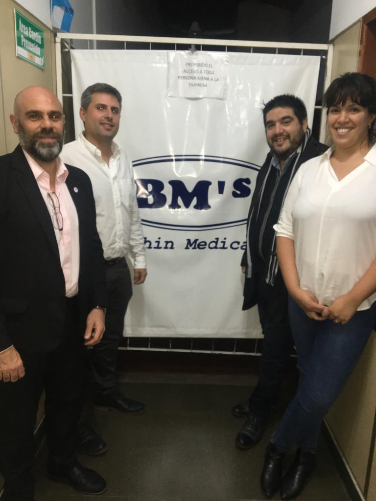 Visita institucional a Balphin's Medical, empresa del ganador del Premio Ciudad Productiva Joven