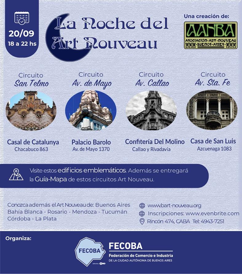 FECOBA y AANBA organizan la 1° Noche del Art Nouveau