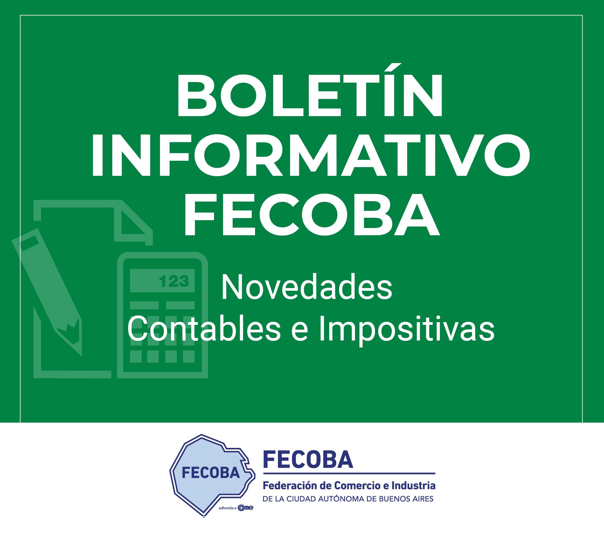 Informe Impositivo FECOBA 65